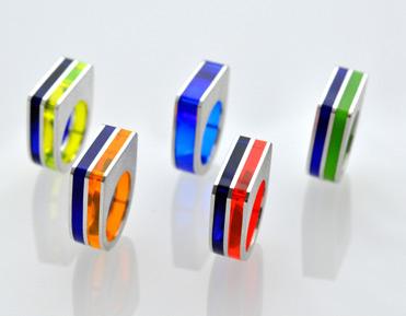 5 ring plexi rechteck
