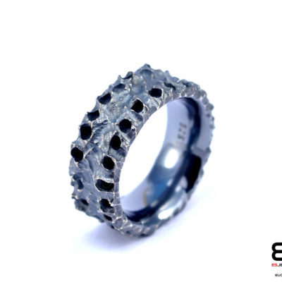 MOON Ring - Oxidized Coral