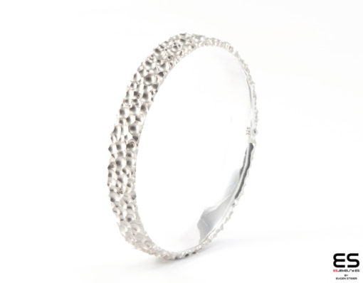 Moon Bracelet - silver Craters