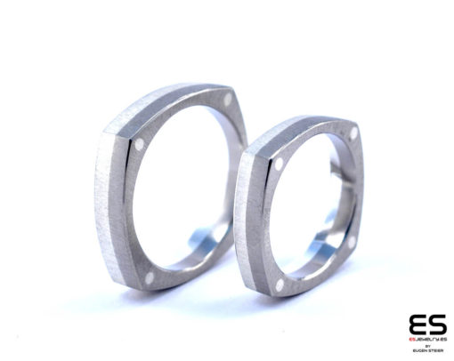 Wedding Rings - Titanium and Silver