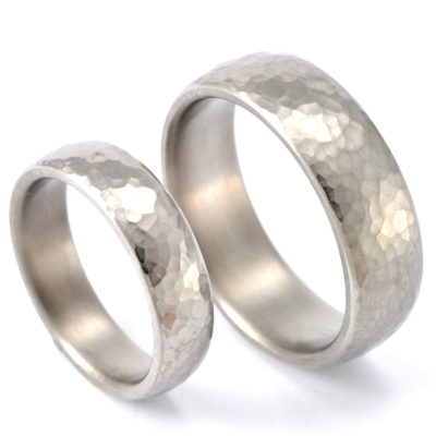 Wedding rings titanium forged round 2.0 mm right ESJewelry web